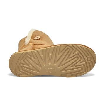 Girl's Bailey Button II Sheepskin Boot - Chestnut