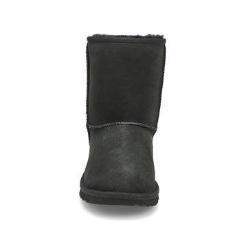 Girl's Classic II Sheepskin Boot - Black