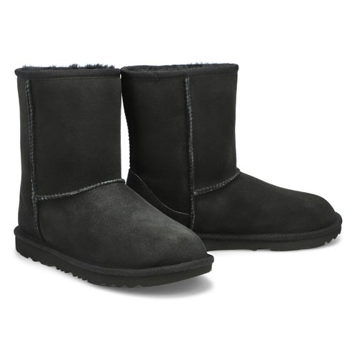 Grls Classic II black sheepskin boot
