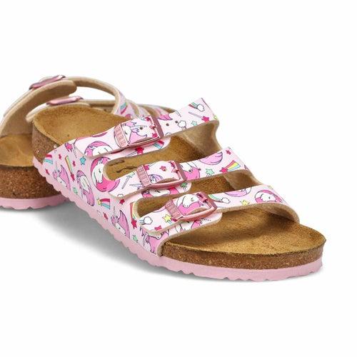 Grls Florida BF unicorn pink sandal-N