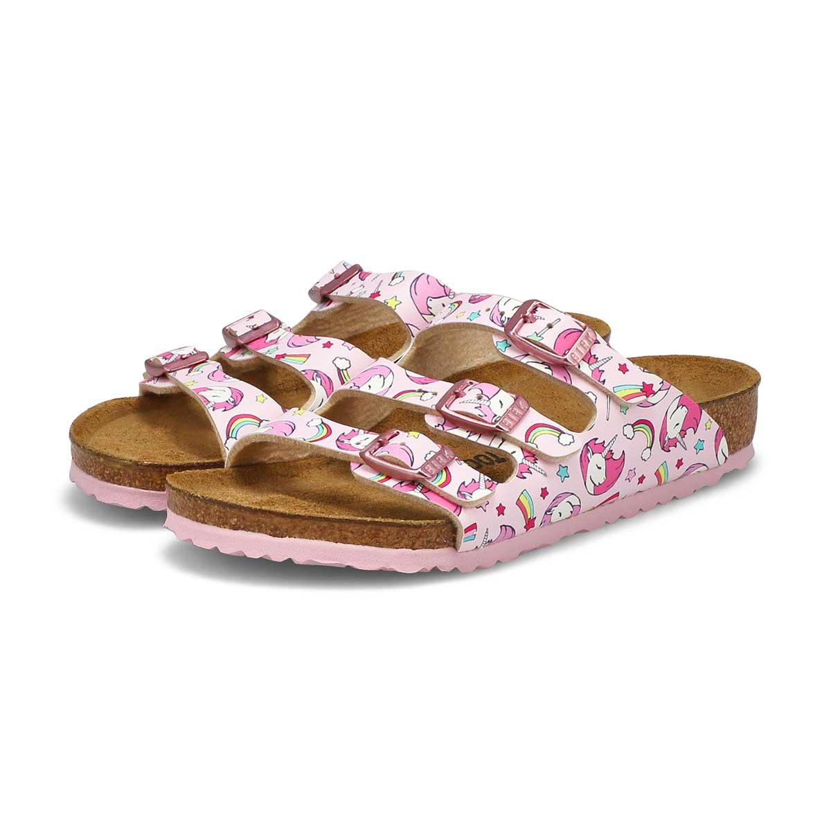 Girls' Florida BF narrow sandals - unicorn pink