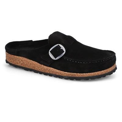 Lds Buckley black casual clog-Narrow