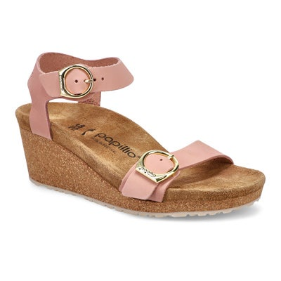 Lds Soley soft pink wedge sandal-N