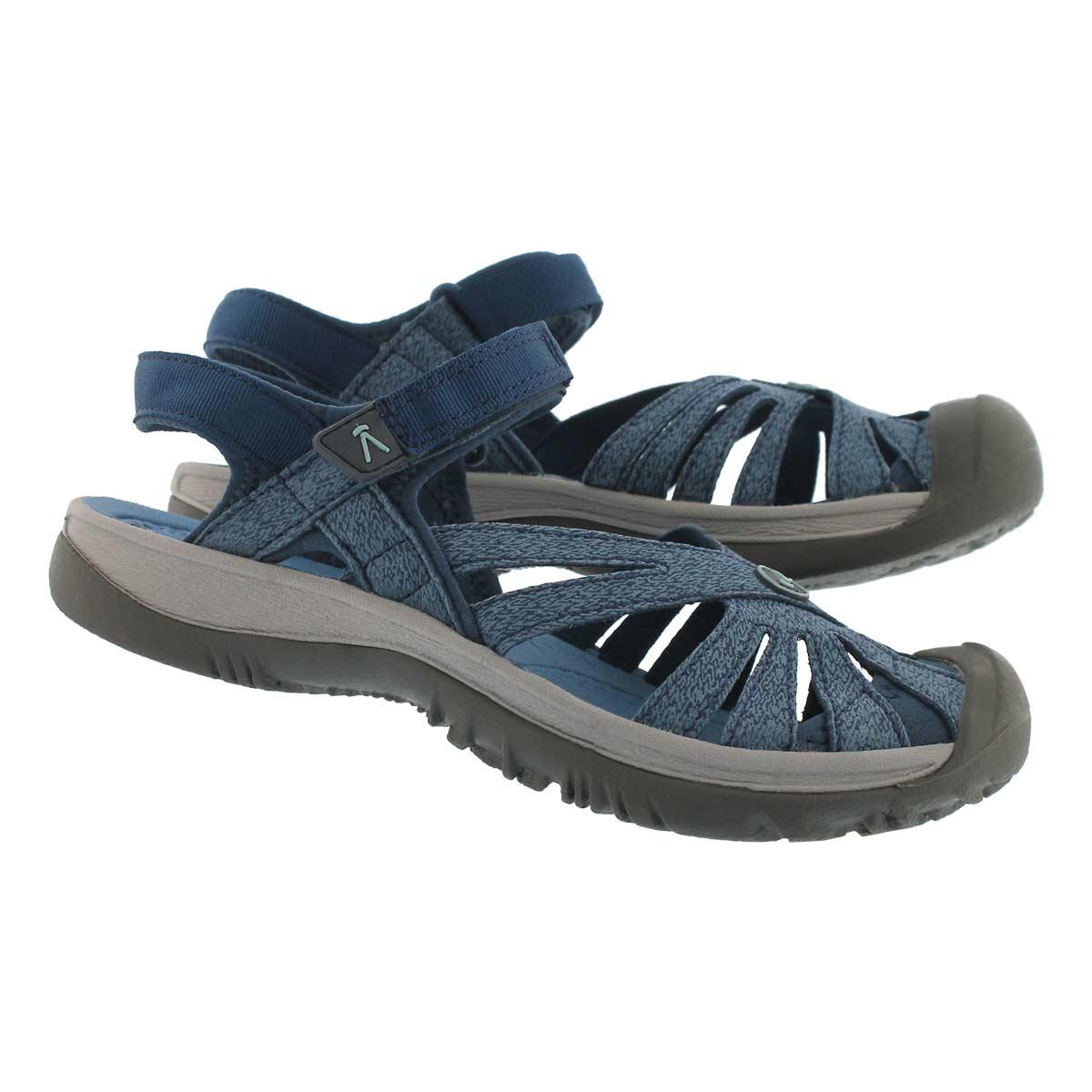 Women's ROSE blue opal sport sandals