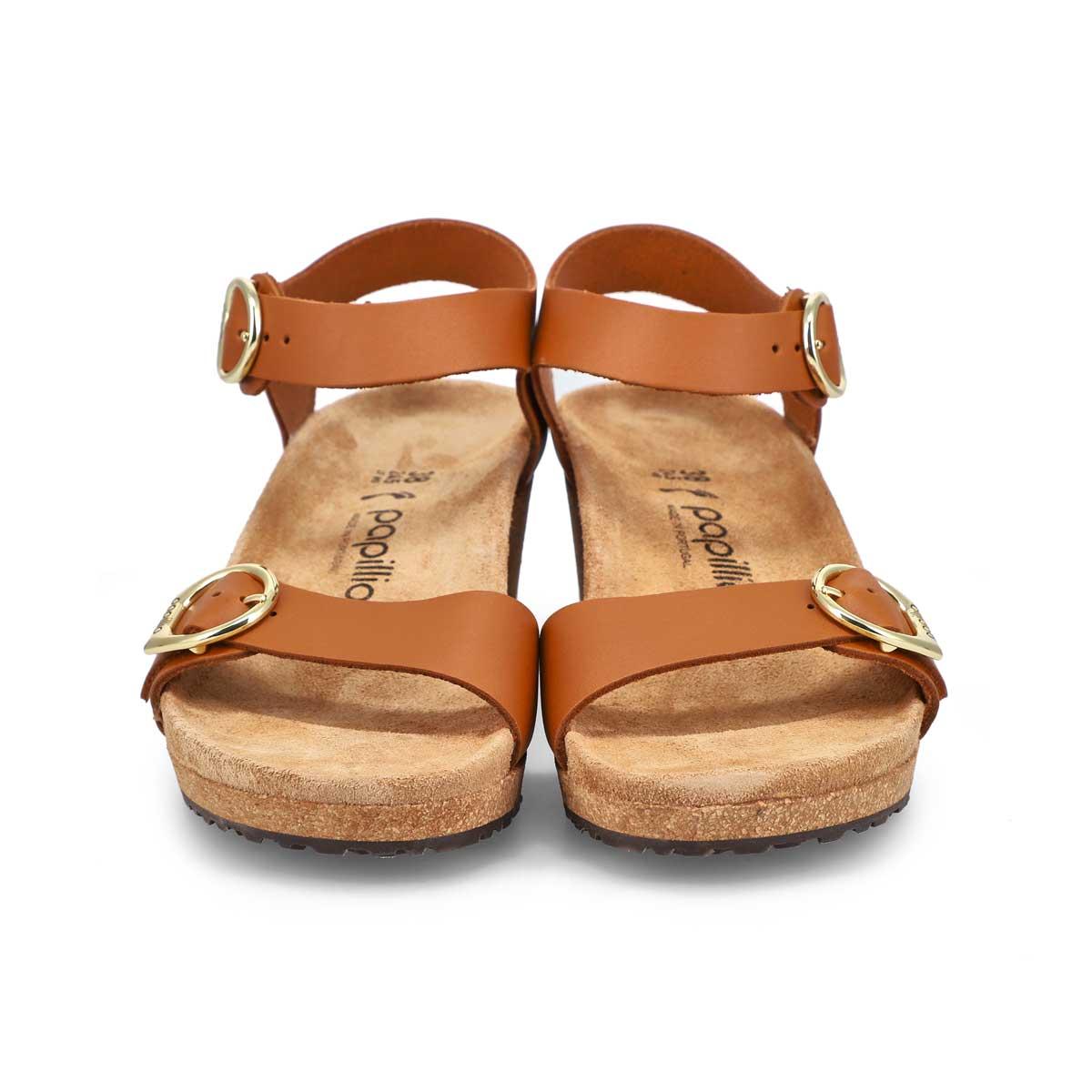 Sandale à talon compensé Soley, femmes - Rouille
