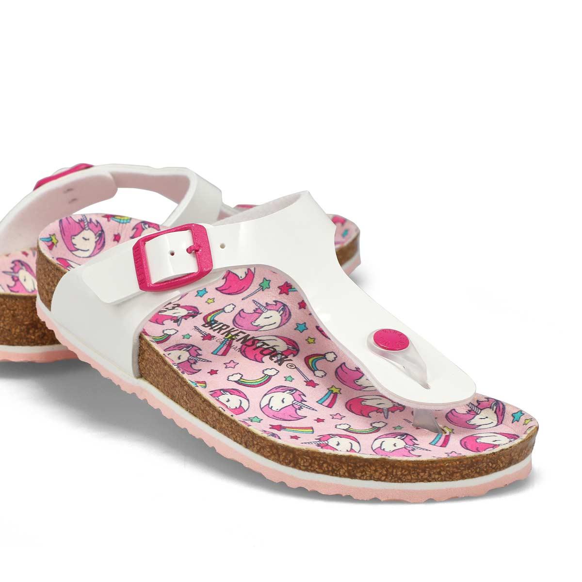 Girls' Gizeh BF Sandals Narrow - Unicorn White Pat