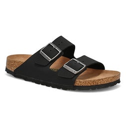 Lds Arizona Vegan black 2-strap sandal-N