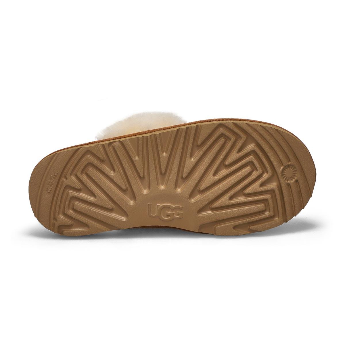 Girl's Cozy II Sheepskin Slipper - Chestnut