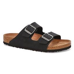 Mns Arizona Vegan black 2-strap sandal