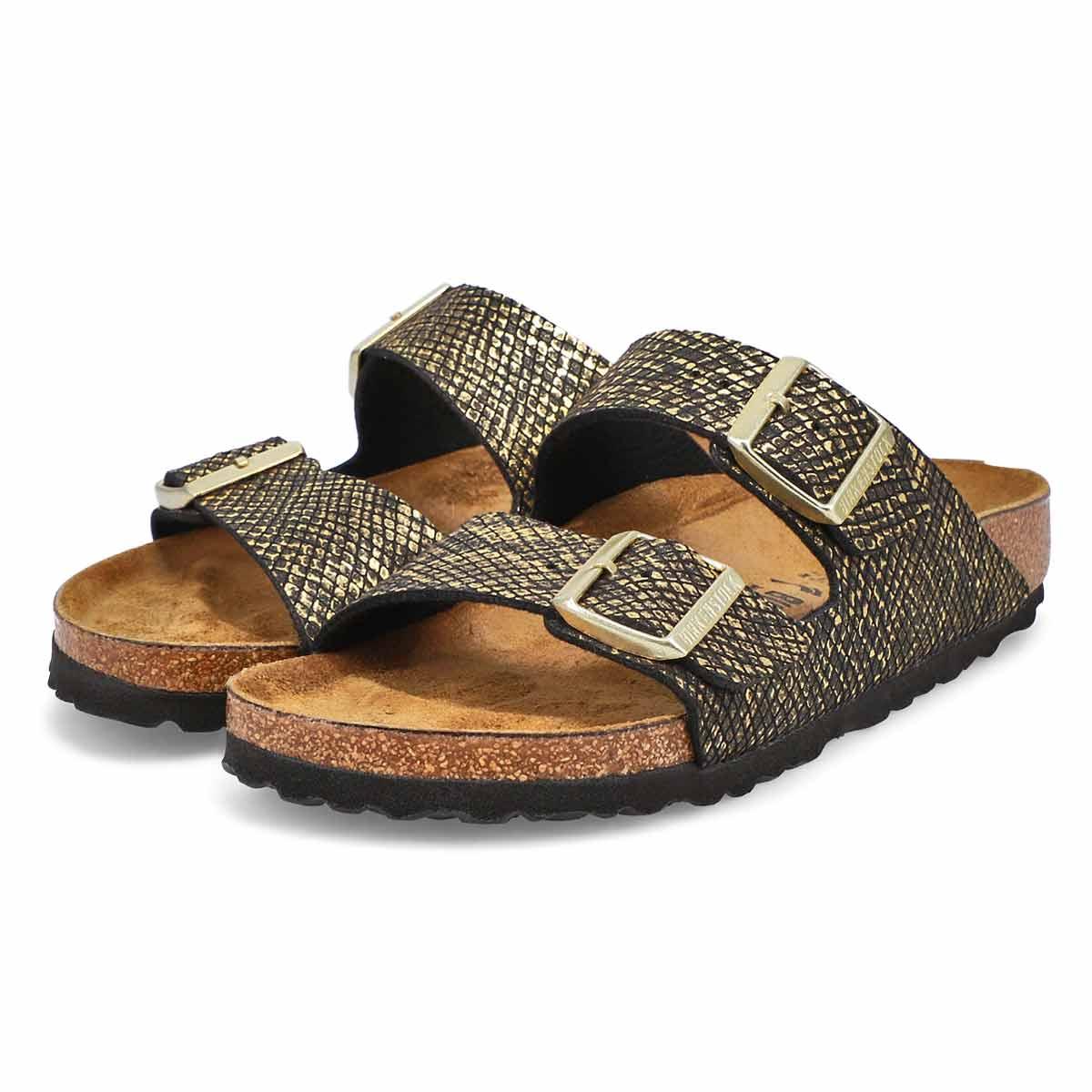 Women's Arizona Narrow Sandal - Python Black/Gold