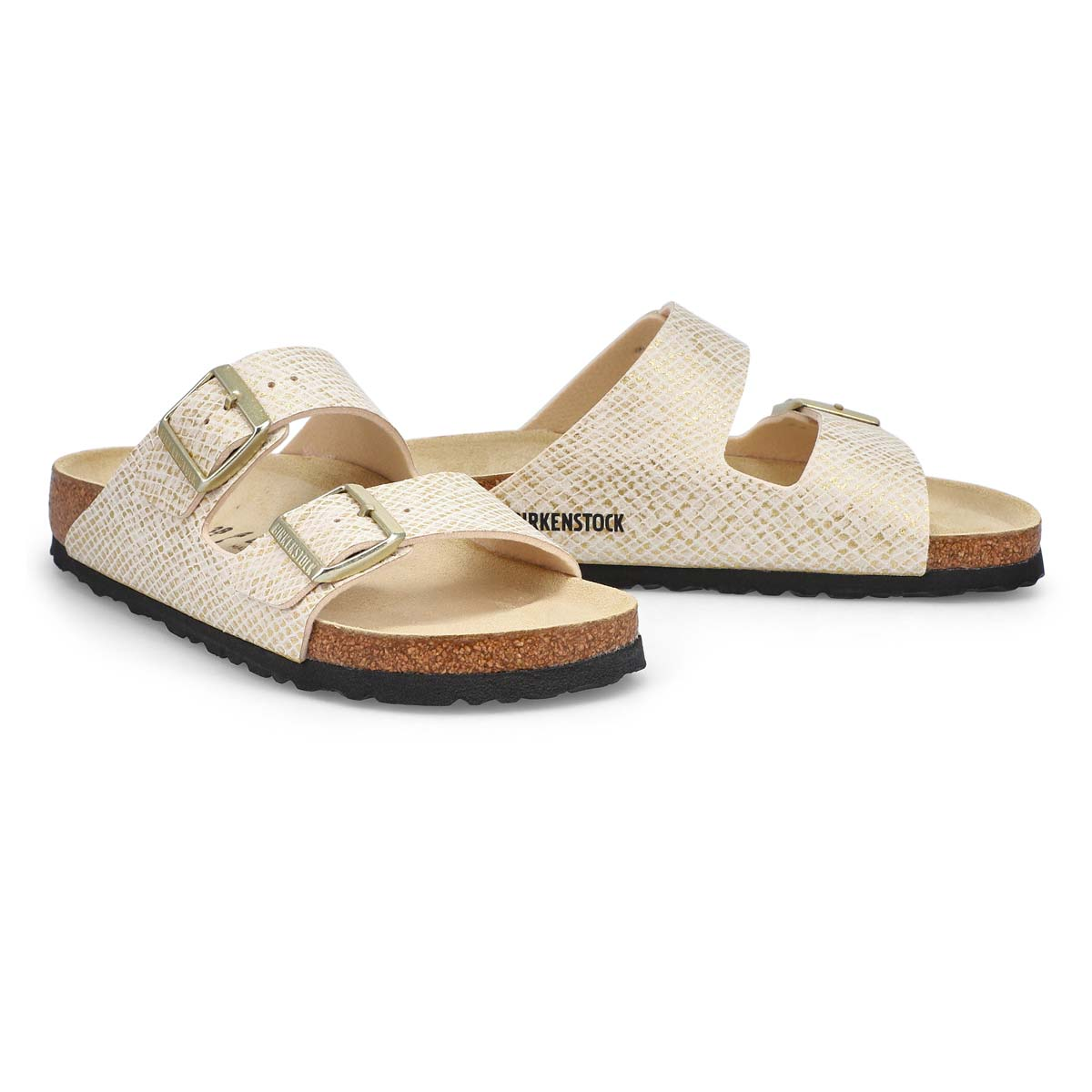 Sandales à 2 brides ARIZONA, or femmes