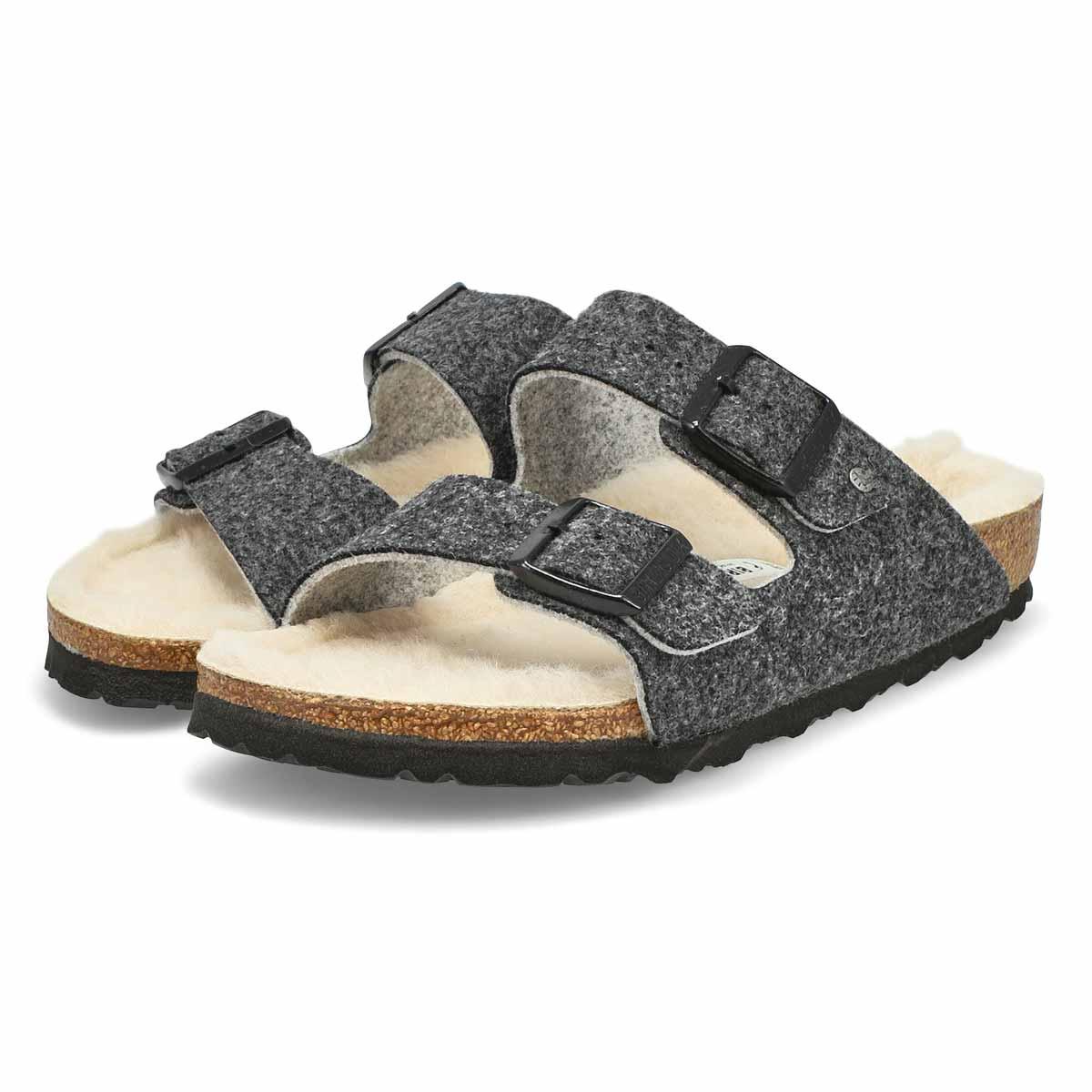 Sandale ARIZONA, anthracite, femmes - Étroite