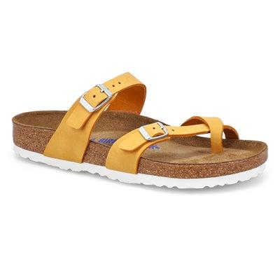 Lds Mayari SF Toe Sleeve Sandal-Apricot
