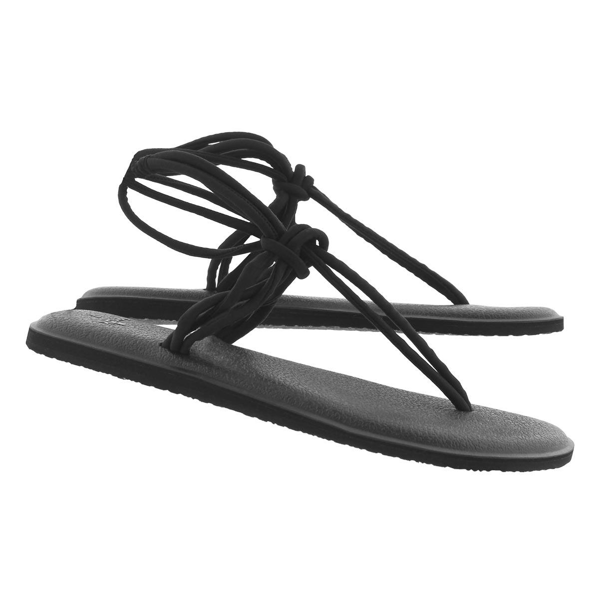 Women's YOGA SUNSHINE black thong sandals