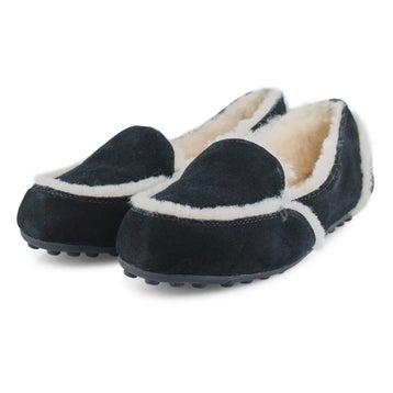 Women's HAILEY black sheepskin moccasins