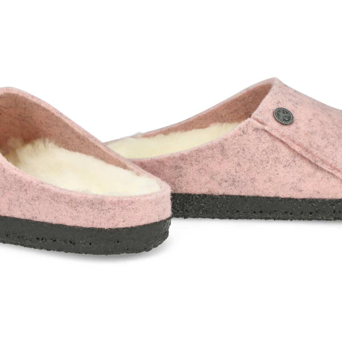 Pantoufle ZERMATT, rose pâle, femme - Étroite