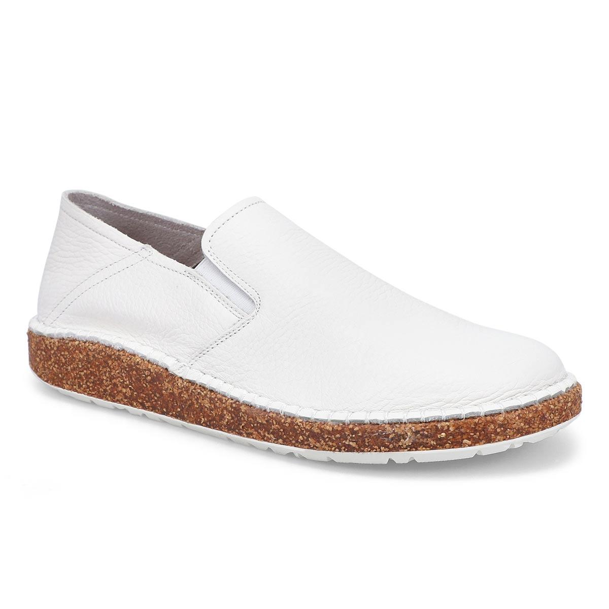 Women's Callan Slip On Shoe- White Narrow