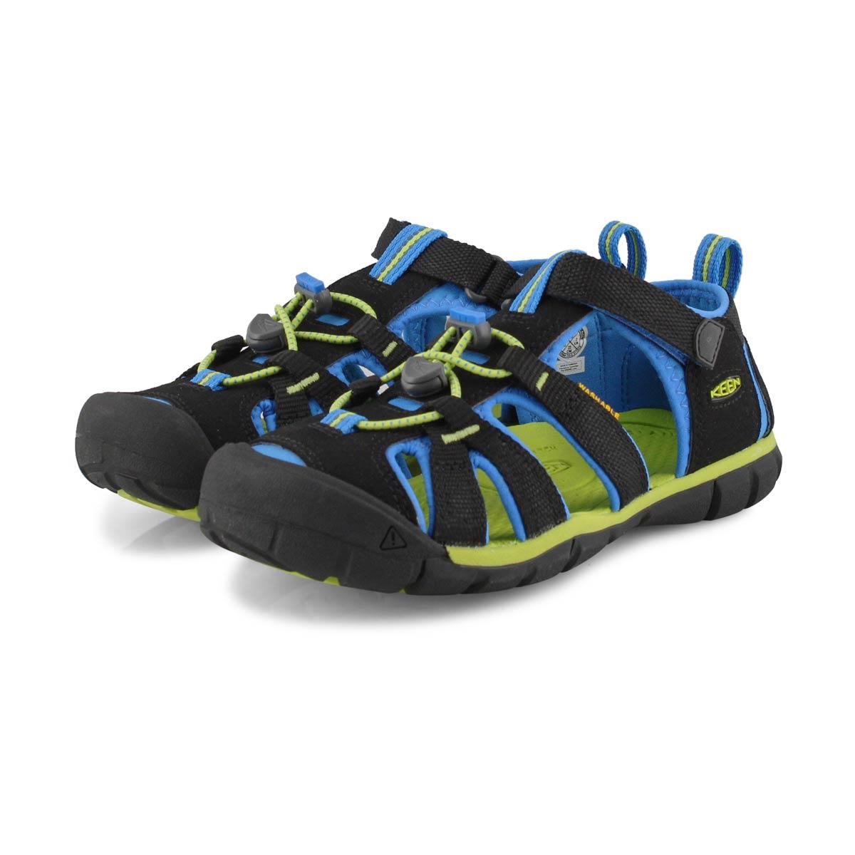 Boy's Seacamp II CNX Sport Sandal - Black/Blue
