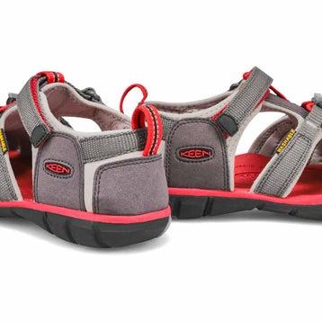 Sandales SEACAMPII CNX gris/rouge, garçons