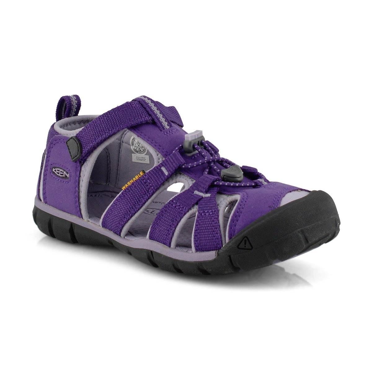 Girl's Seacamp II Sport Sandal - Purple/Grey