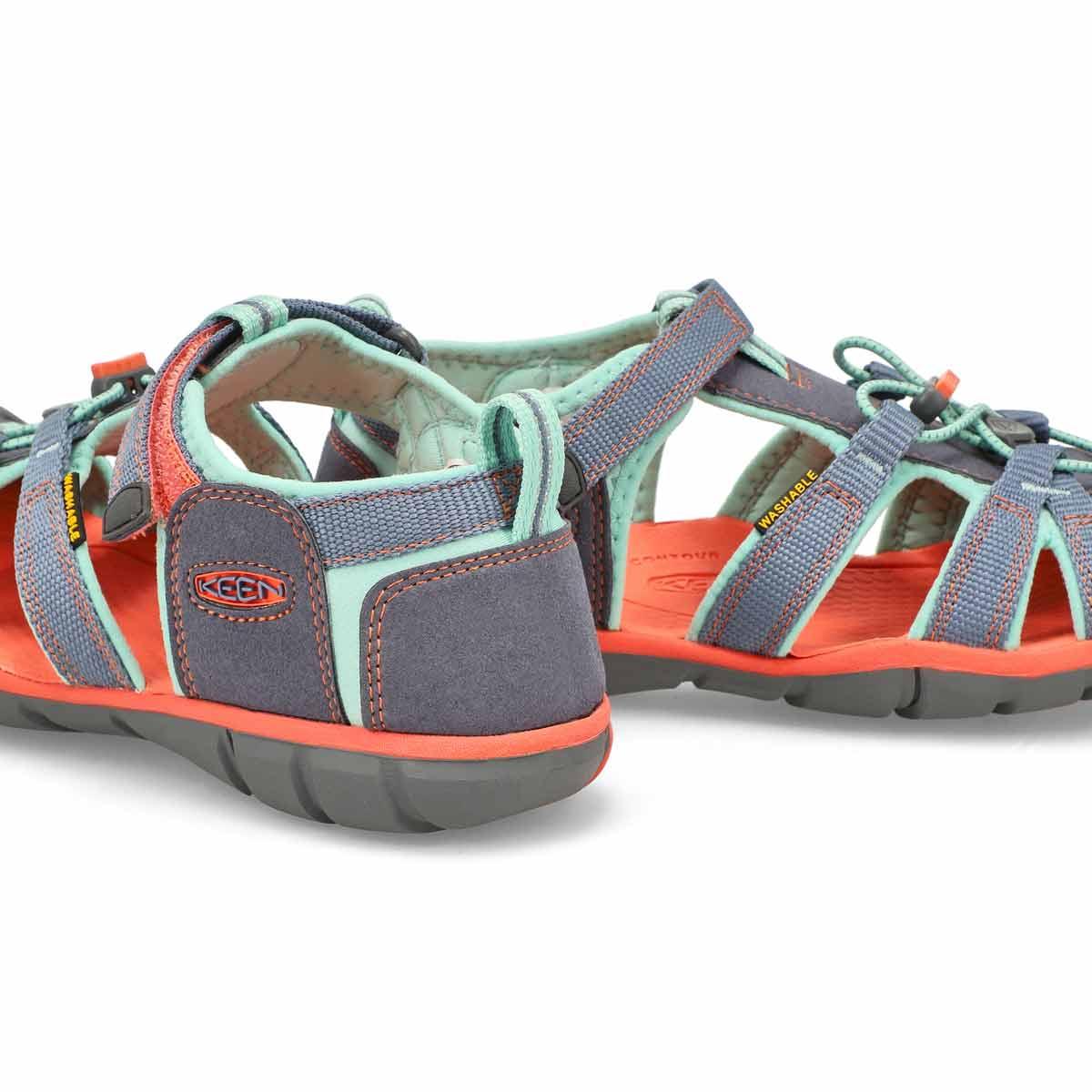 Girl's Seacamp II Sport Sandal - Stone/Ocean