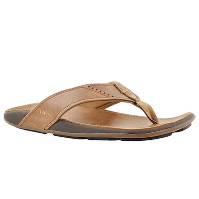 OluKai Men's NUI tan thong sandals