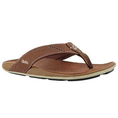 OluKai Men's NUI rum thong sandals