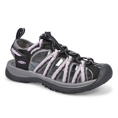 Lds Whisper Sport Sandal- Black/Thistle