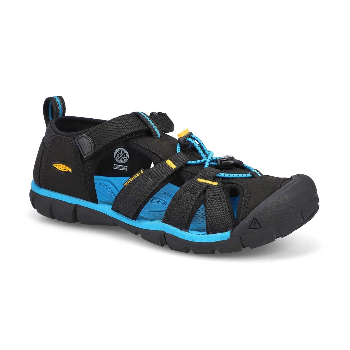 Boys' Seacamp II CNX Sport Sandal - Black/Yellow