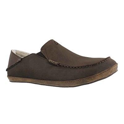 Mns Moloa dk wood drop in heel slipper