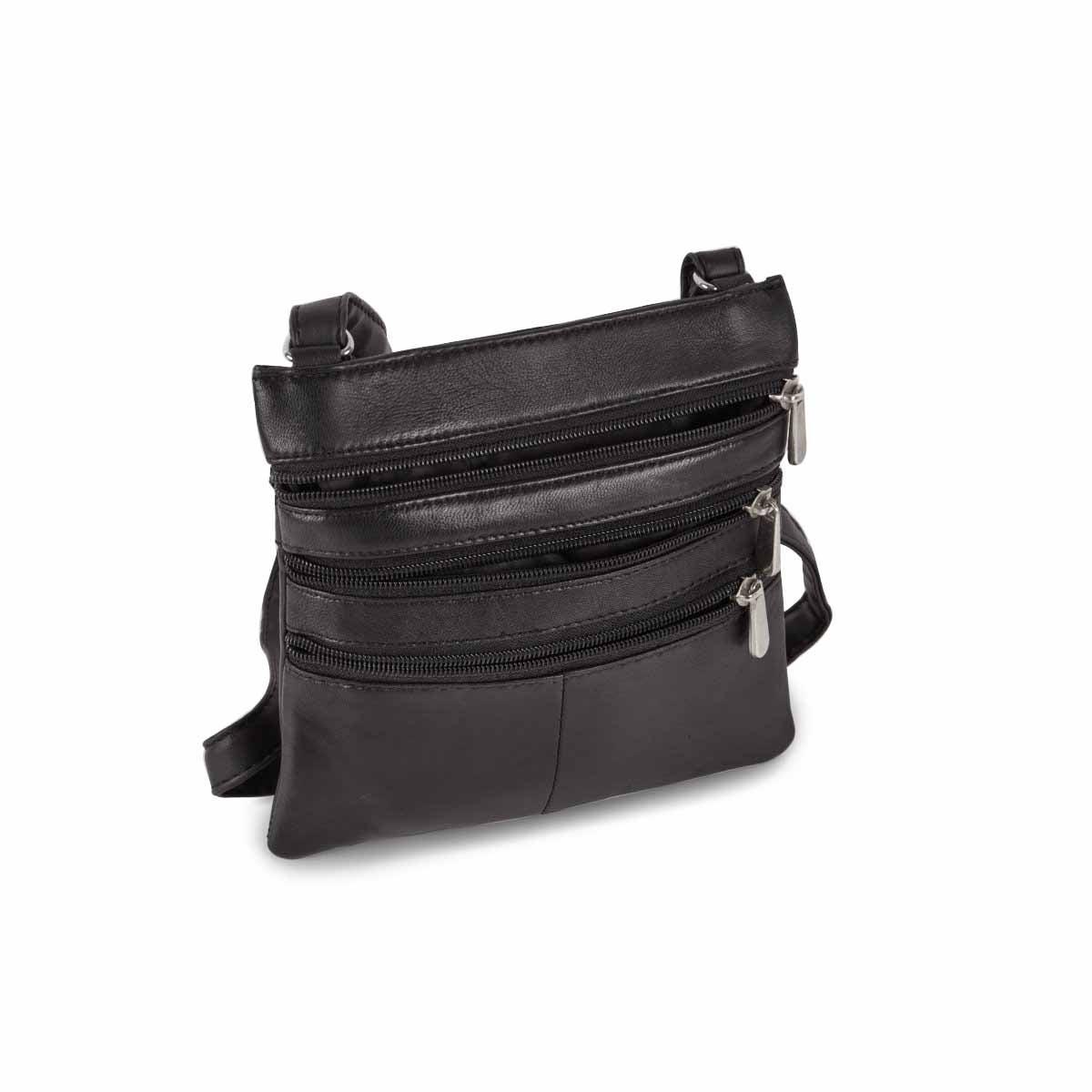 Women's 1027  black sheep leather crossbody bag