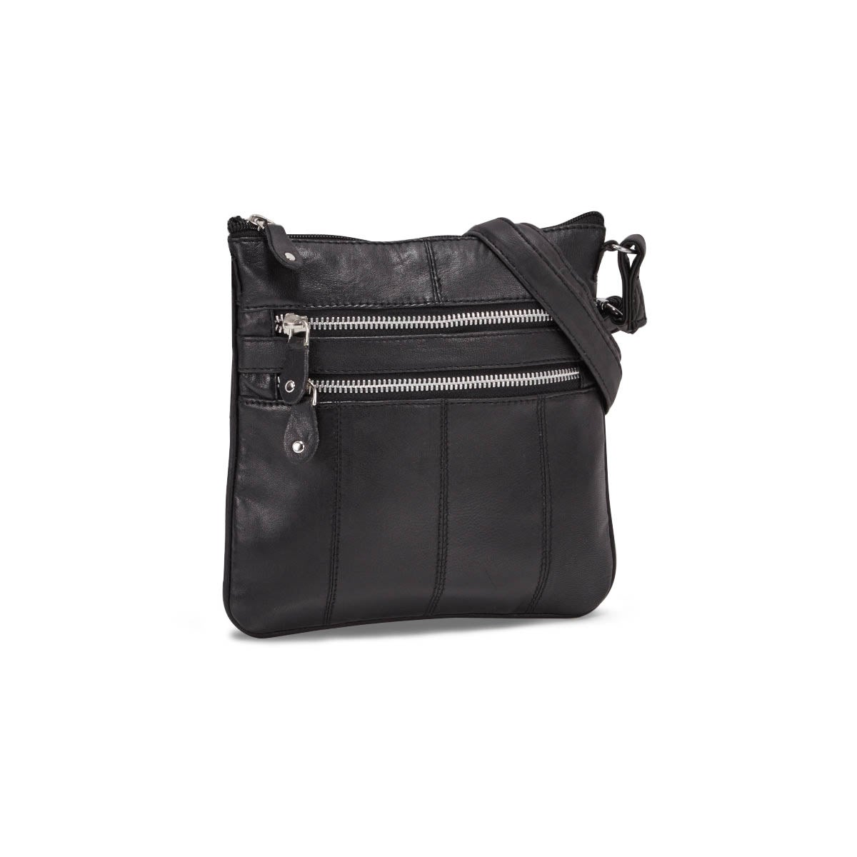 Lds blk sheep leather cross body bag