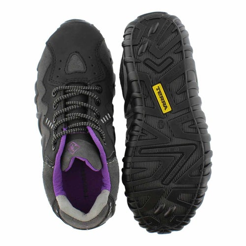 Lds Spider blk/ppl lace up CSA sneaker