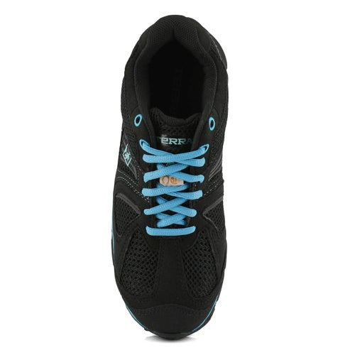Lds Pacer 2 blk/blue lace up CSA sneaker