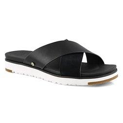 Lds Kari black casual slide sandal