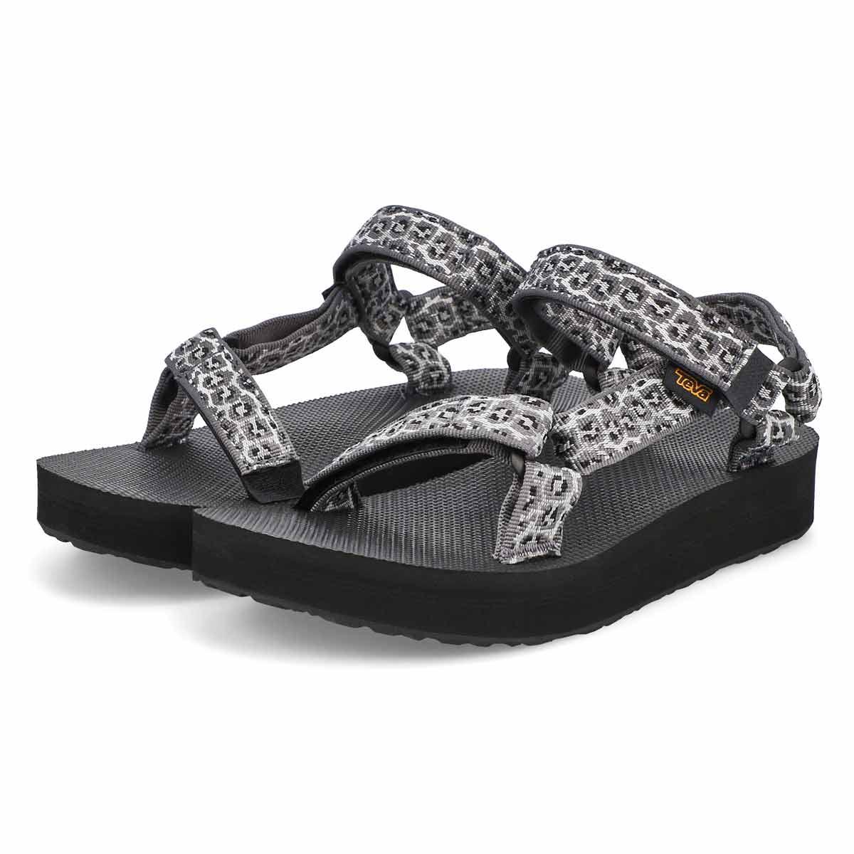 Women's Midform Universal Sandal - Black/White