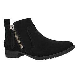 Lds Aureo black suede side zip bootie