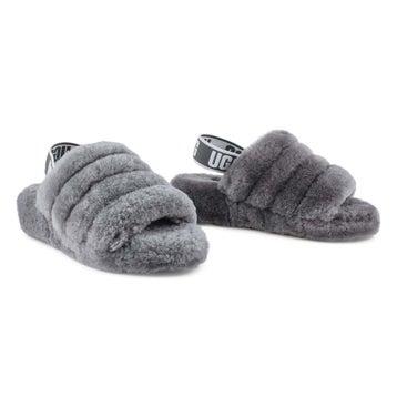 Women's Fluff Yeah Sheepskin Slipper - Charcoal