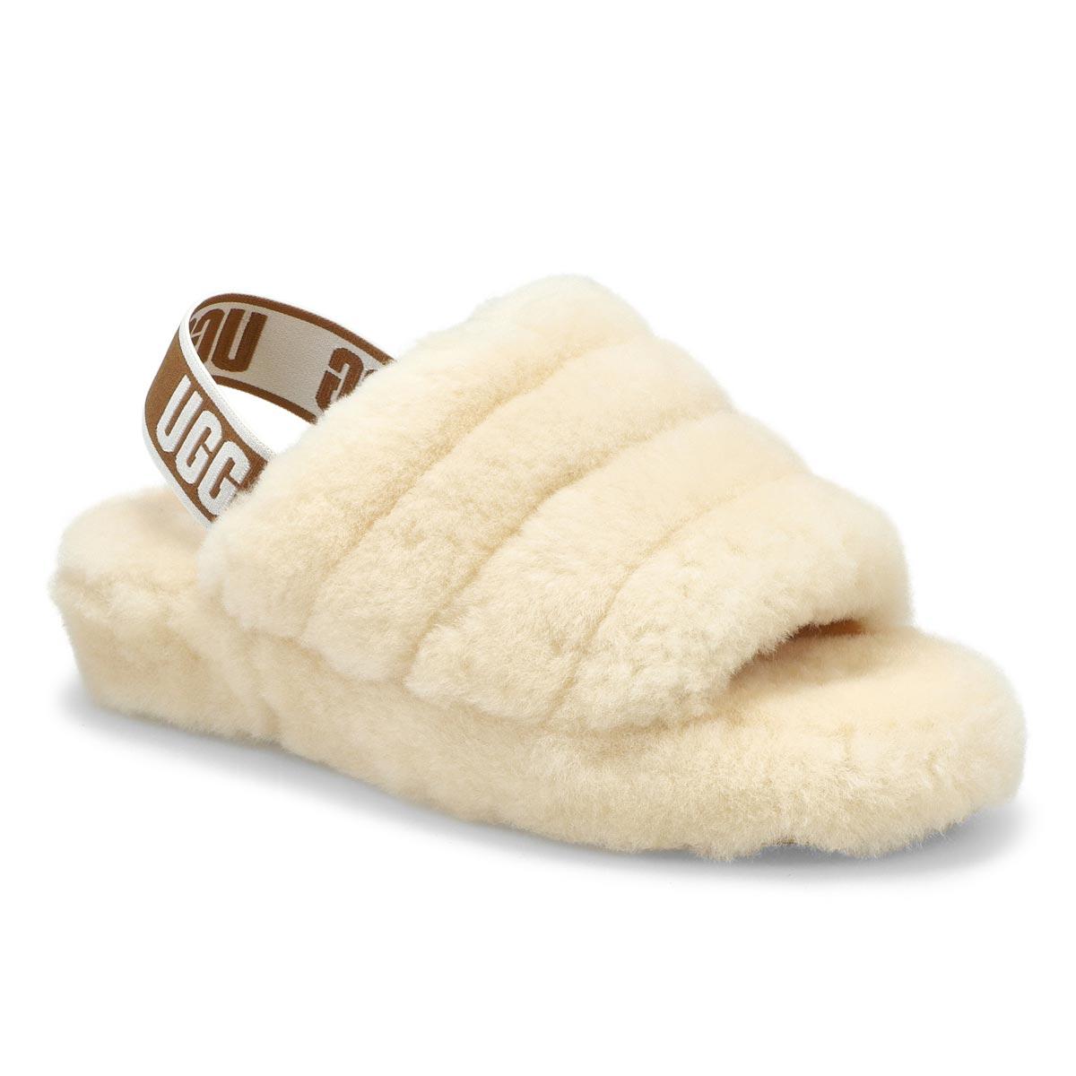 Women's Fluff Yeah Sheepskin Slipper - Natural