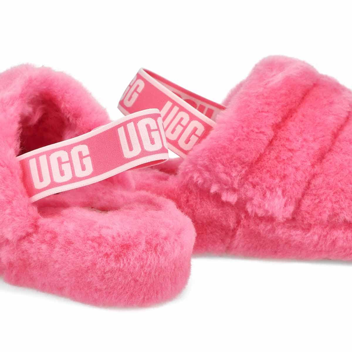 Women's Fluff Yeah Sheepskin Slipper - Pink Rose