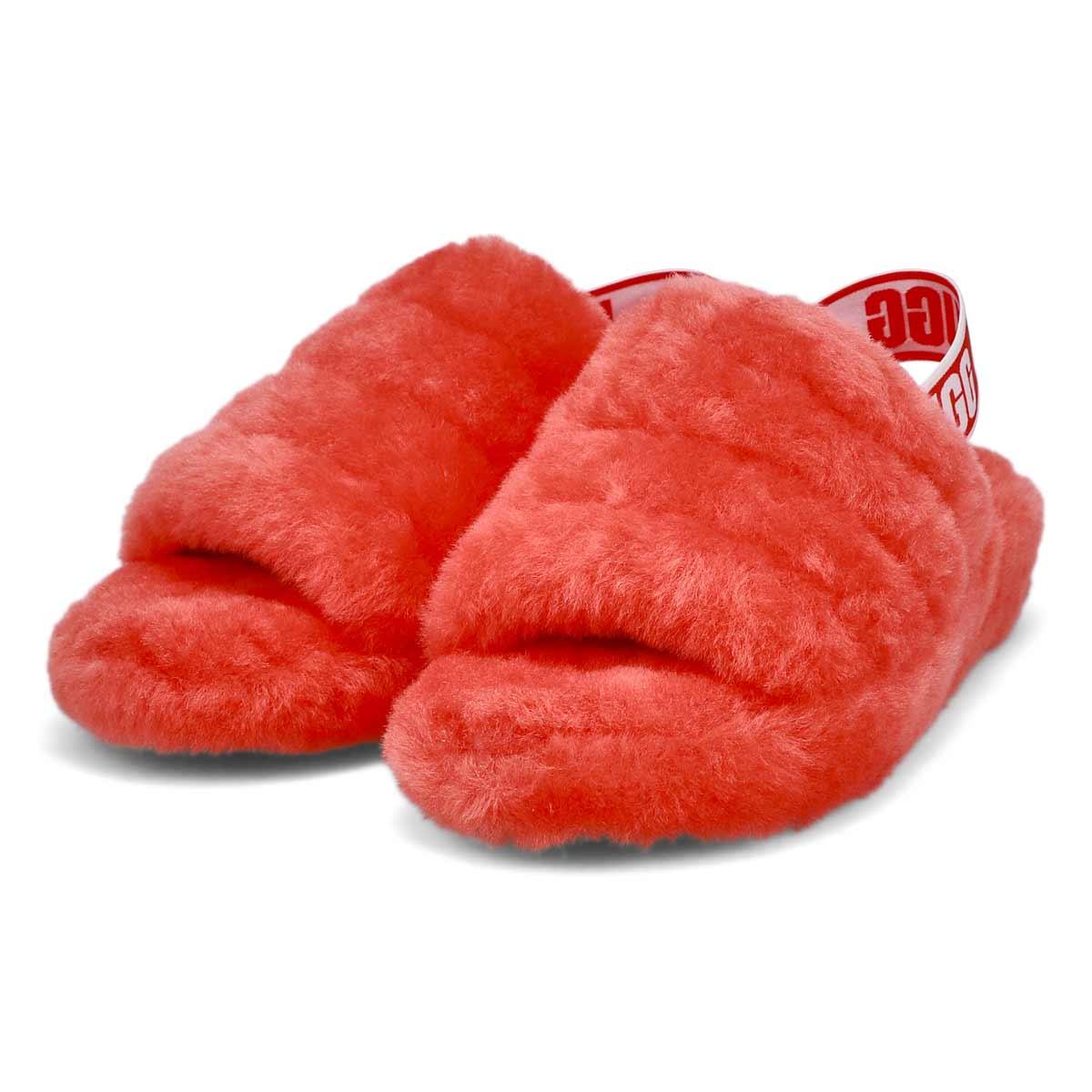 Pantoufles FLUFFYEAH, peau/mouton, gadelle, femmes