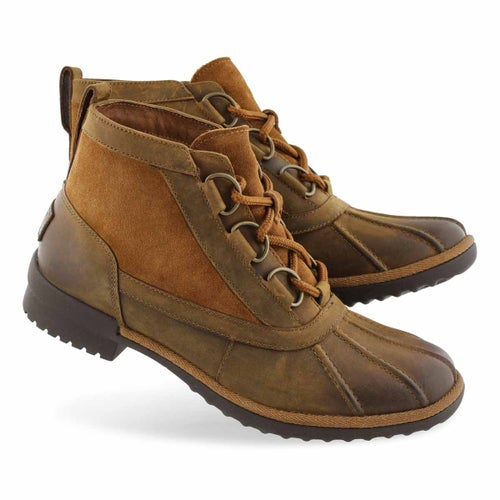 Lds Heather chestnut lace up wtpf duckie