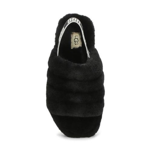 Grls Fluff Yeah black sheepskin slipper