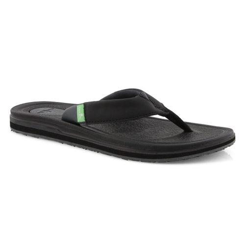 Sandale tong Yoga Mat 3, noire, femmes