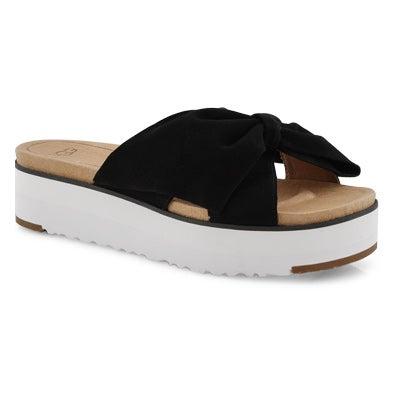 Lds Joan II black casual slide sandal
