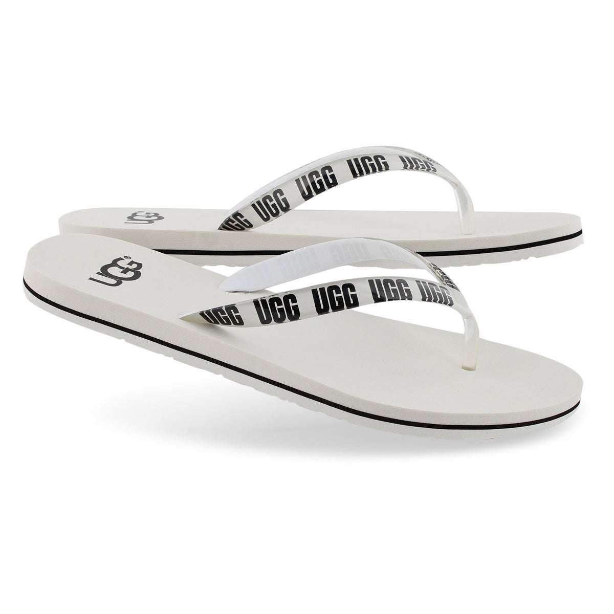 Women's SIMI GRAPHIC white thong sandals