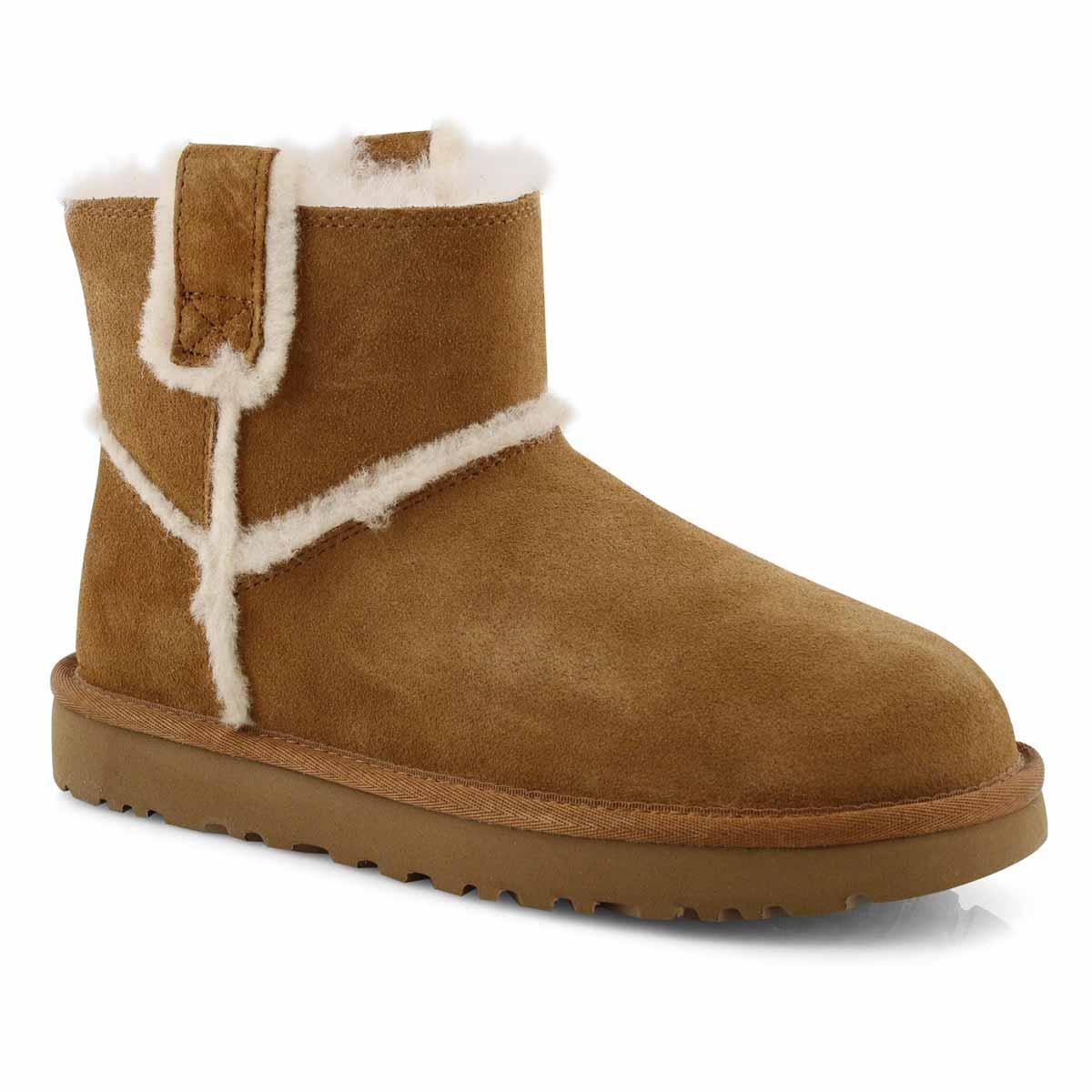 Women's CLASSIC MINI SPILL SEAM chestnut boots