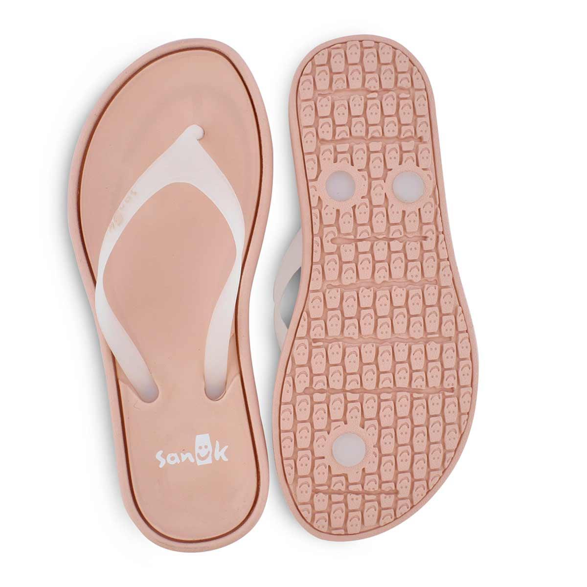 Sandales de plage SIDEWALKER, blanc/rose, femmes