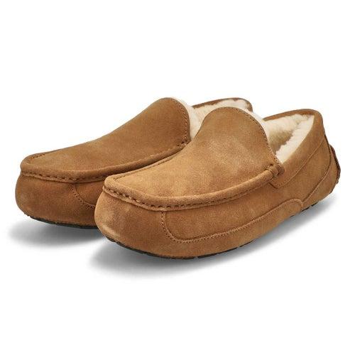 Mns Ascot chestnut sheepskin slipper