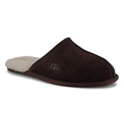 Men's SCUFF espresso sheepskin slippers